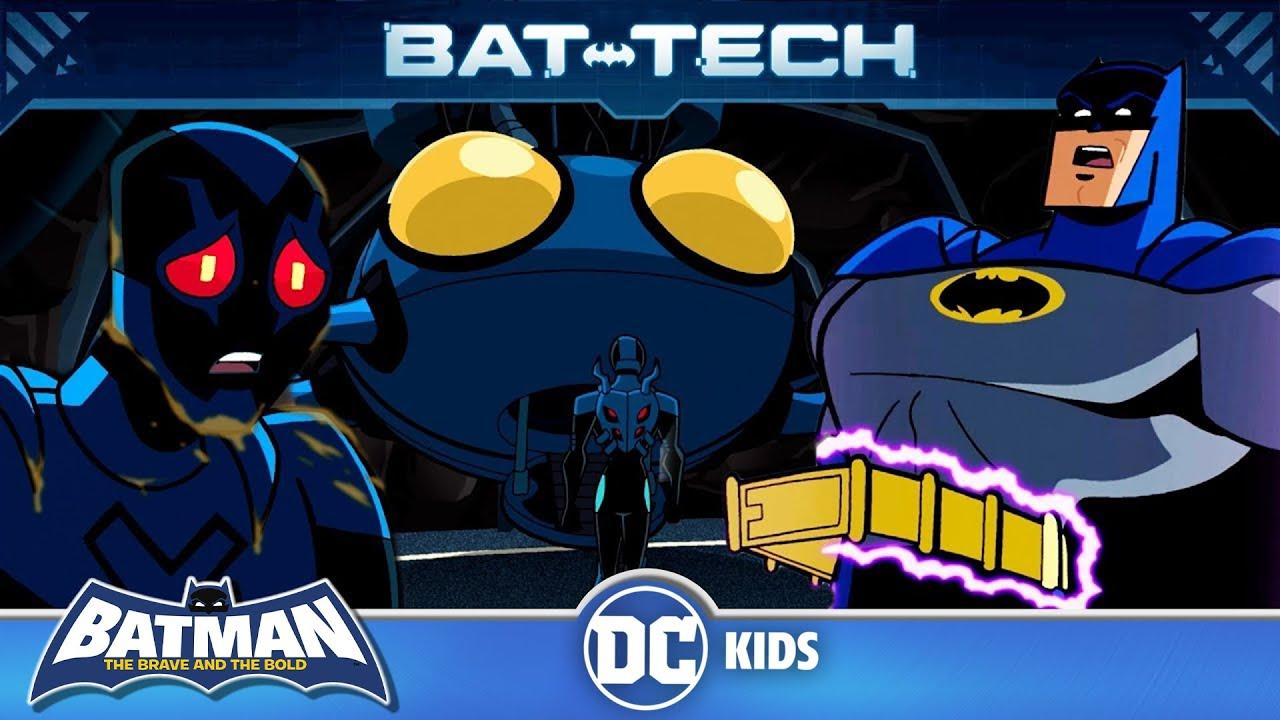 Blue Beetle shows off his secret headquarters to Batman | DC Kids