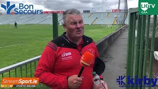Tony Ward reacts to Doon's hard fought win over South Liberties