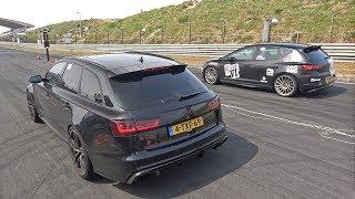 380HP Seat Leon Cupra 5F Stage 2 vs Audi RS6 Avant C7 vs Subaru Impreza WRX STI