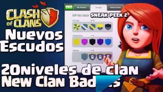 Nuevos escudos de Clan y nivel de Clanes | Actualización de Febrero 2015 |Clash of clans en español