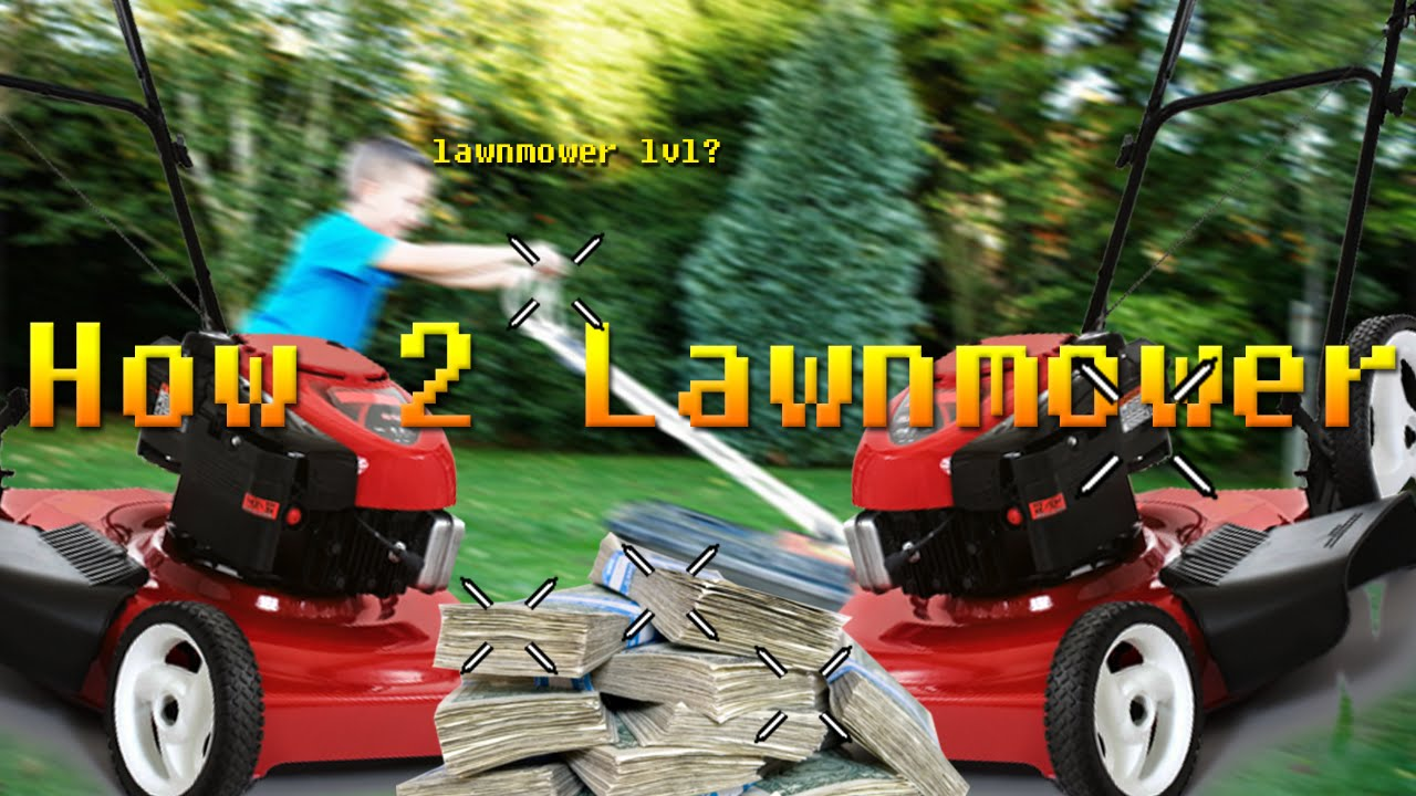 Old 2 cycle lawn mower working hard. - YouTube
