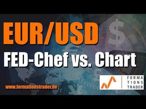 Analyse EURUSD: Gewinnt der FED-Chef oder der Chart