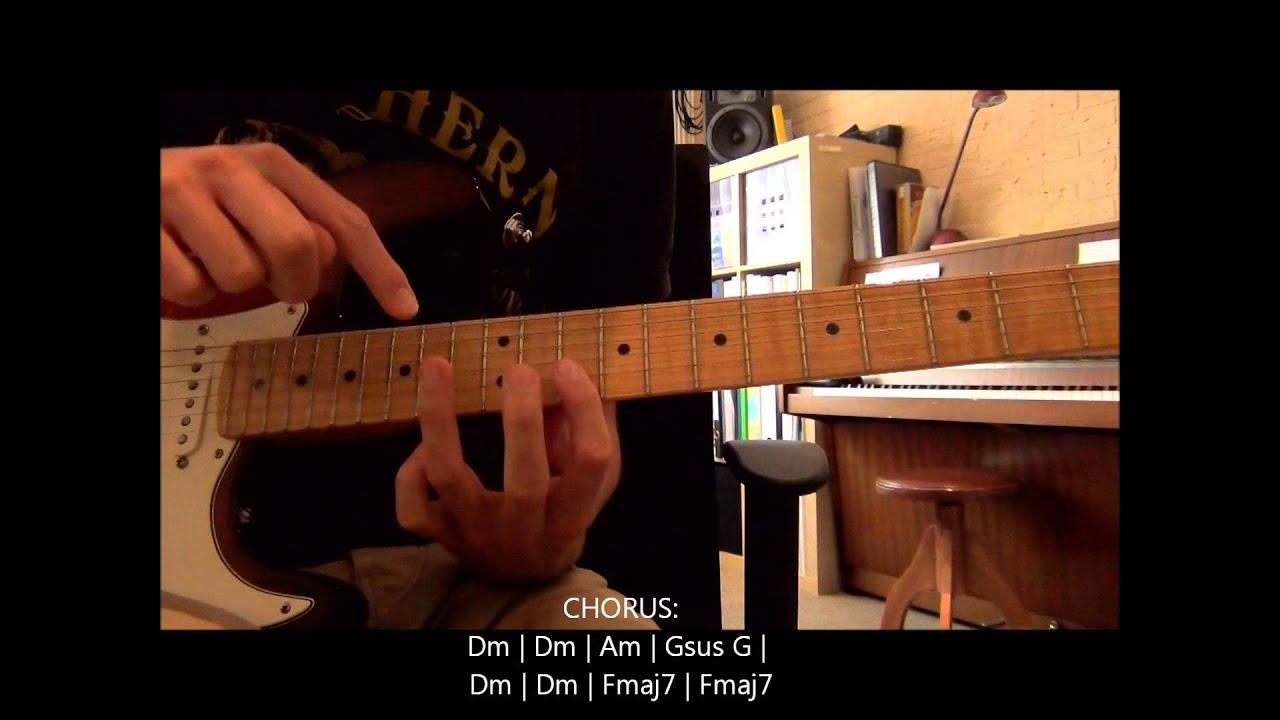 coldplay don 39 t panic electric guitar lesson how to play chords lead youtube. Black Bedroom Furniture Sets. Home Design Ideas