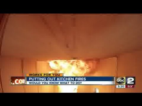 putting out kitchen grease fires youtube. Black Bedroom Furniture Sets. Home Design Ideas