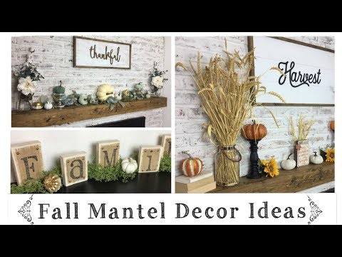 Fall Decor Ideas \ Mantel & Shelf Decor Ideas On A Budget \ Decorate With Me!