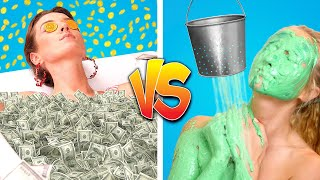 RICH STUDENT VS POOR STUDENT || Rich Girl Vs Broke Girl Funny Situations by Crafty Panda