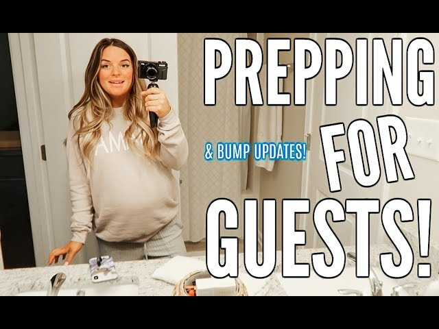 PREPARING FOR GUESTS AND BUILDING NURSERY FURNITURE | Casey Holmes Vlogs