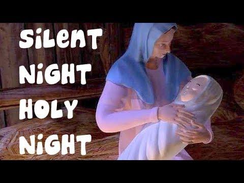 Silent Night Holy Night With Lyrics   Popular Christmas Carols   Puzzle Toons - YouTube