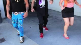 LMFAO Teaches us How to Shuffle Dance with Skyblu!