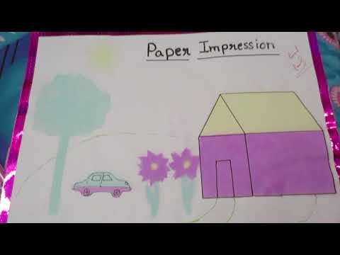 kite paper impression sheet// composition