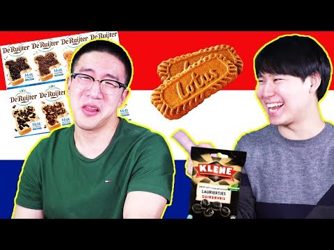 KOREANS TRY DUTCH SNACKS! (And almost die)