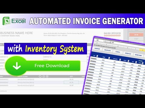 Excel Invoice Generator w/ Inventory System ( FREE DOWNLOAD ) - YouTube