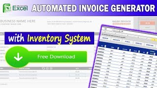 Gambar cover Excel Invoice Generator w/ Inventory System ( FREE DOWNLOAD )