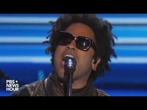 Watch Lenny Kravitz perform 'Let Love Rule' at the 2016 Democratic National Convention