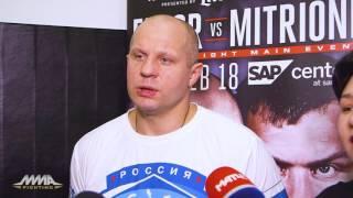 Fedor Emelianenko Bellator 172 Open Workout S...