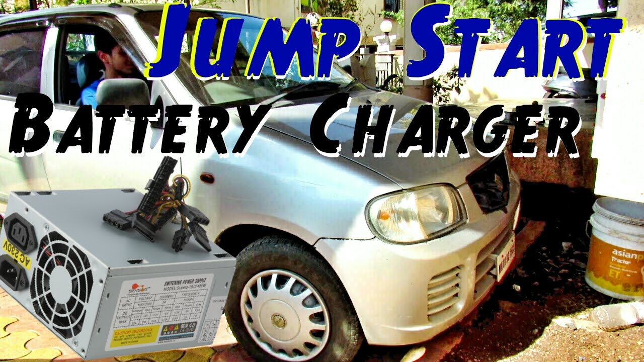 Jump Start a Car in 5 Minutes ! - With DIY 12v Dead Car