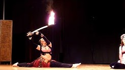 Arts on Fire 2010: Camille belly dance with the flaming sword