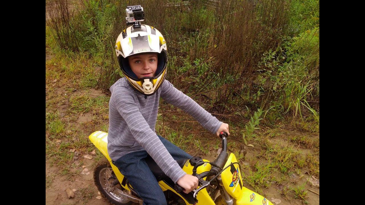 First time on a Suzuki 50cc dirt bike. GoPro POV. - YouTube
