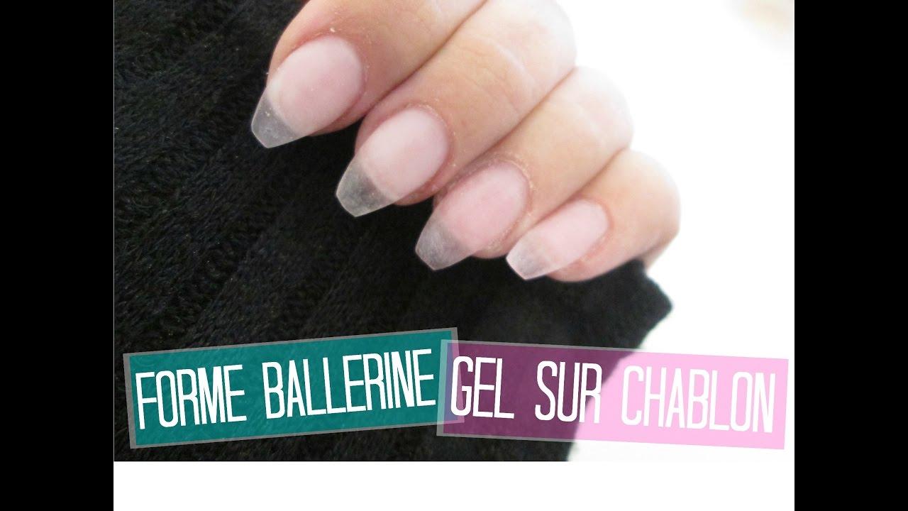 French Manucure Courte destiné tuto forme ballerine (courte) en gel sur  chablon