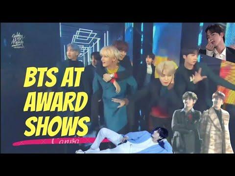 BTS being BTS at Award Shows