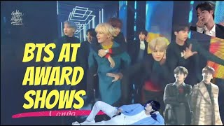 BTS being BTS at Award Shows