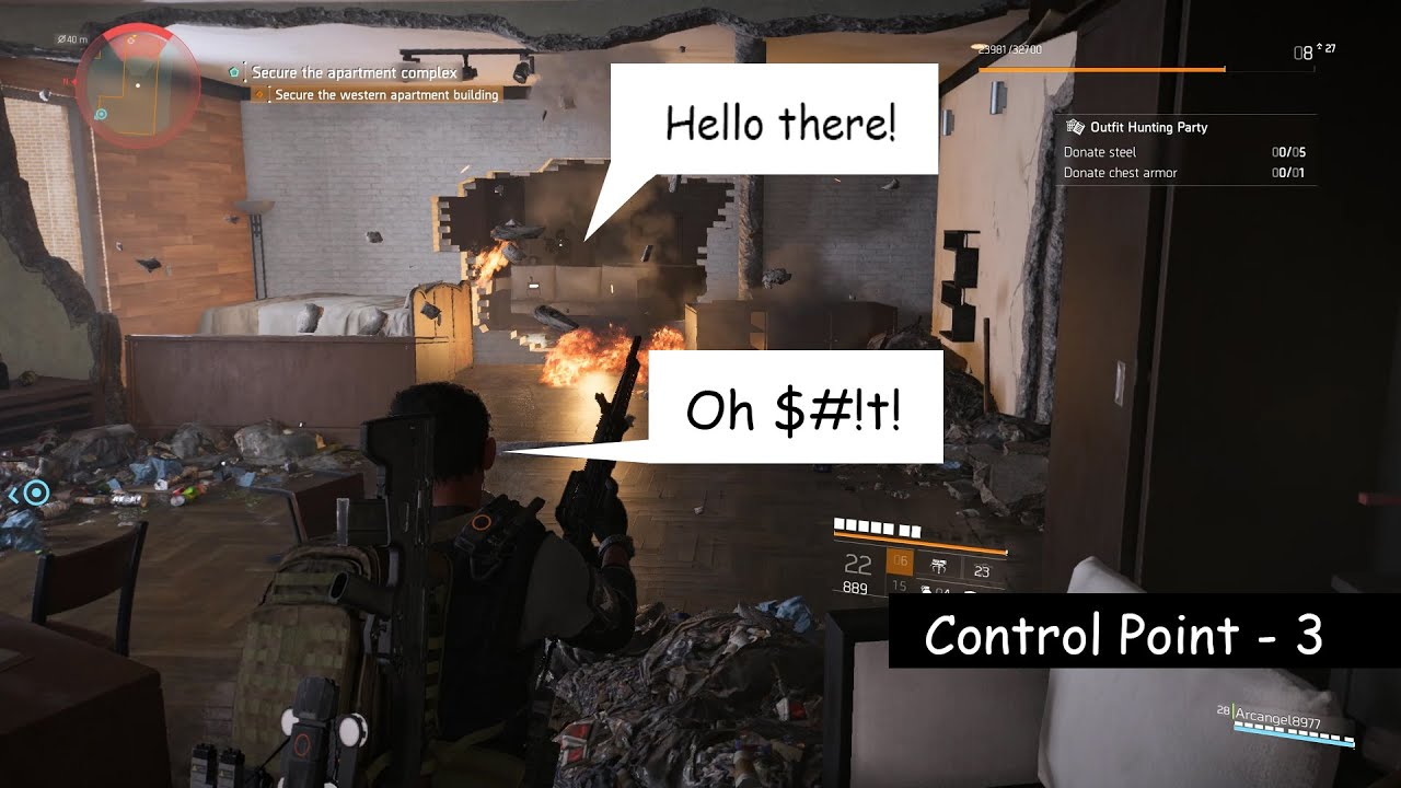 Tom Clancy S The Division 2 Control Point 3 With Little Memes