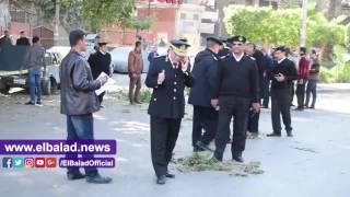 مساعد وزير الداخلية للأمن العام يتفقد موقع انفجار الهرم.. فيديو وصور
