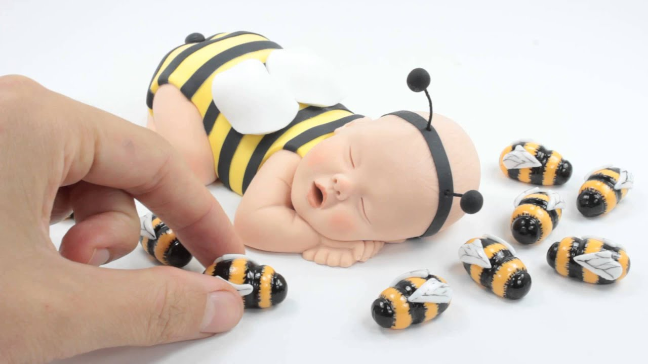 Bumble Bee Cake Topper By Lil Sculpture