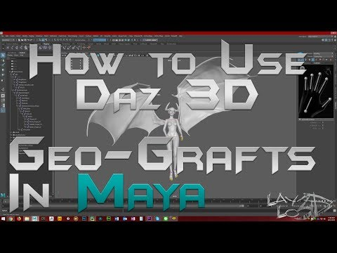 How to Use Daz 3D Geo-Grafts in Maya