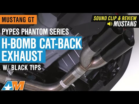 2018-2019 Mustang GT Pypes Phantom Series H-Bomb Cat-Back Exhaust w/ Black Tips Sound Clip & Review