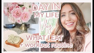 DAY IN MY LIFE 💕 WORKOUT ROUTINE, WHAT I EAT, RUN ERRANDS WITH ME