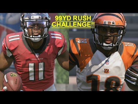 JULIO JONES VS AJ GREEN 99 YARD RUSHING TOUCHDOWN CHALLENGE!! MUST SEE!! INSANITY!!