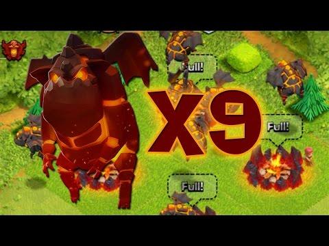 9 MASTINI LAVICI ALL'ATTACCO (livello 3) - Clash of Clans ITA