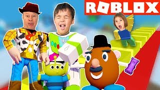 ¿Quién engañó? en TOY STORY 4 OBBY (ROBLOX Obstacle Course) Family YG Gaming Challenge