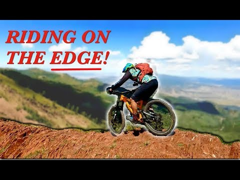 RIDING on the EDGE at 10,000 feet! | Mountain biking the Wasatch Crest in Park City, Utah