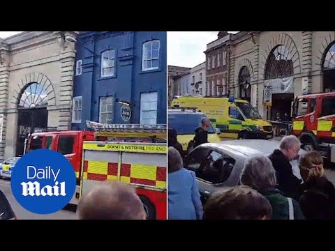 Emergency vehicles arrive at Zizzi's where former Russian spy dined - Daily Mail