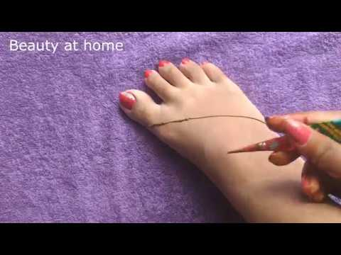 Simple And Easy Mehndi Design For Leg Step By Step Process