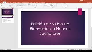2  Intro Video de Bienvenida - Materiales