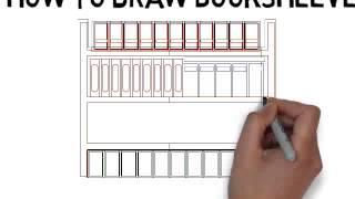 how to draw bookshelves