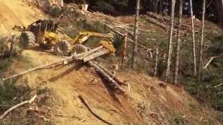 Skidder Tigercat 635D Steep Slope Operation