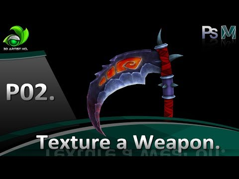 Game Artist | Speed Painting Texture Weapon - Part 02 | Game Design