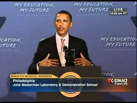Pr. Obama - Phladelphia (1) - Back to School - Work Hard, Focus on Education