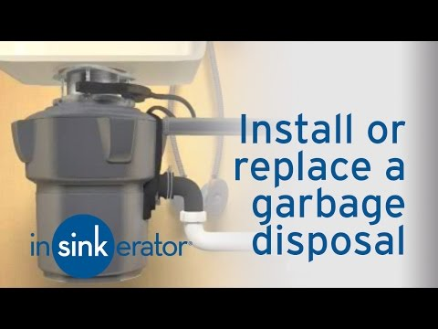 How do I install or replace a garbage disposal?   Westlake
