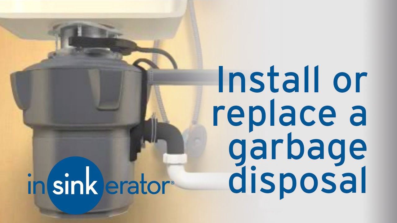 How To Install / Remove A Garbage Disposal   InSinkErator   YouTube