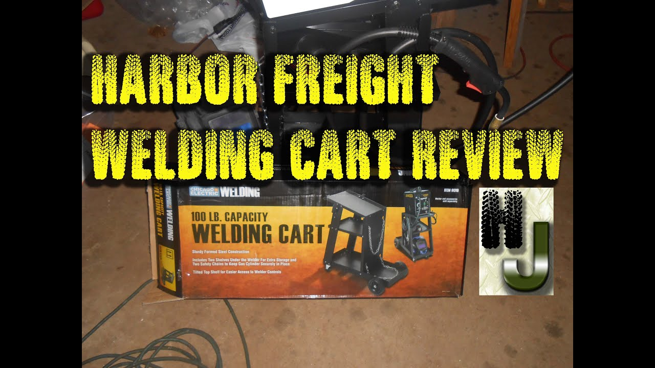 Harbor Freight Welding Cart - Unboxing, Set up, Review - Used with Hobart  140