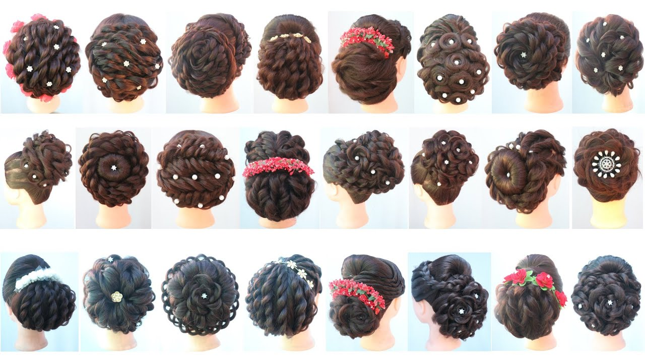 24 beautiful messy bun hairstyle || easy hairstyles || new hairstyle || hair style girl || hairstyle