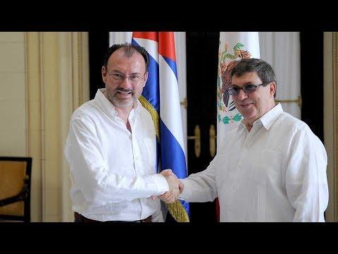 Mexico, Cuba FMs meet in Havana on regional matters