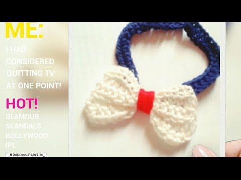 Crochet Bow Tie Tutorial Youtube