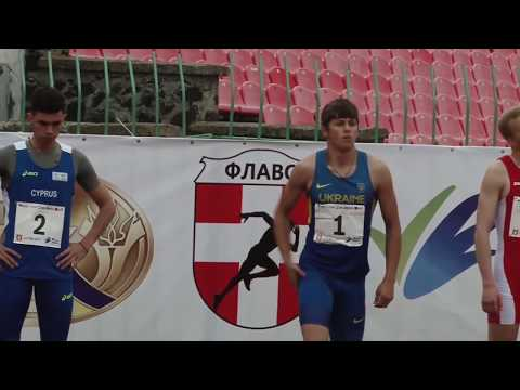 110m Hurdles Men – Lutsk 2017 (International Athletics U20 Match Meeting)