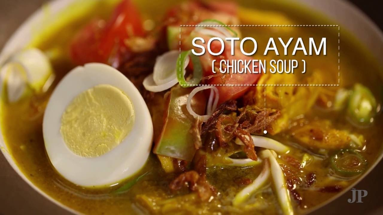 Soto Ayam (Indonesian chicken soup with noodles and aromatics